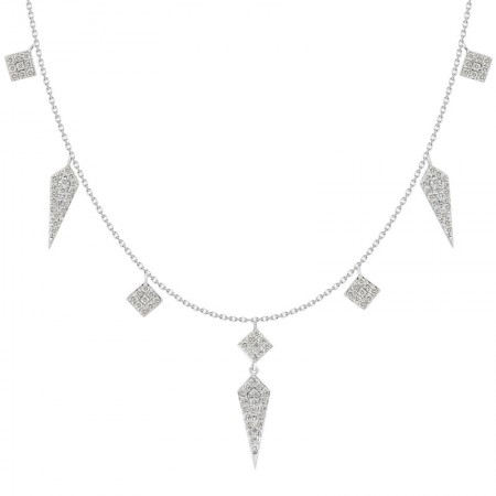 18K Multi-shape Dangling Fashionable Necklace