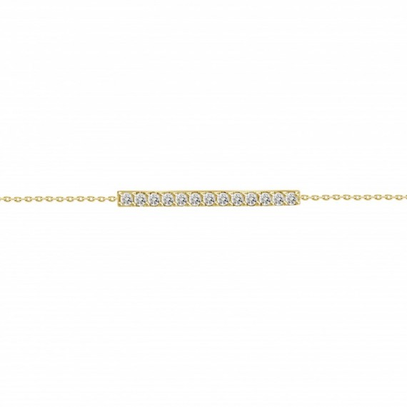 Diamond Bar Bracelet(Medium)