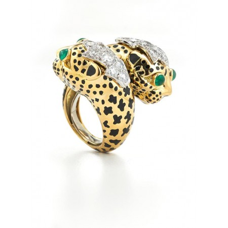 Crossover Leopard Ring