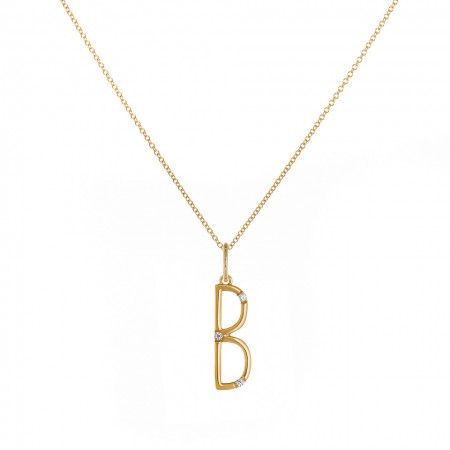 B character Necklace