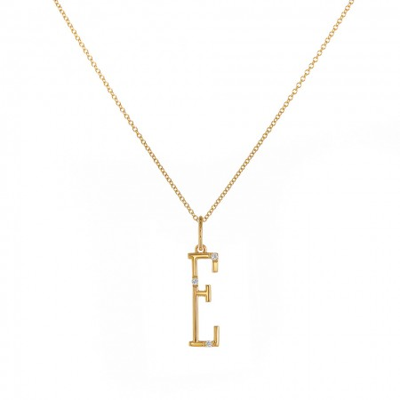 E character necklace