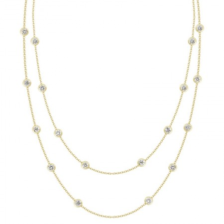 Diamond Long Station Necklace
