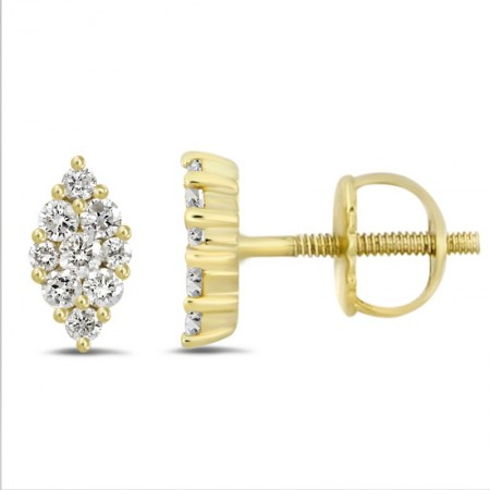 Diamond Marquise shape Earring(Medium)