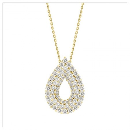Hollow Pear Shaped Luxury Diamond Pendant